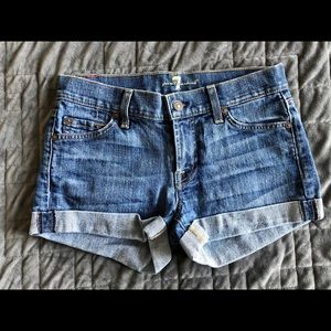 7 For All Mankind jean shorts, size 24